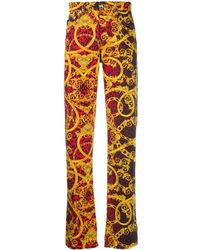 Versace Jeans Baroque Leopard Print Jeans - Red