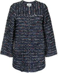 Coohem Chaqueta de tweed con cuello redondo - Azul