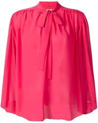 Giamba Pussy Bow Blouse - Pink
