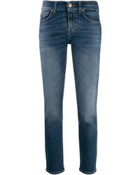 7 For All Mankind Jeans con vita bassa - Blu