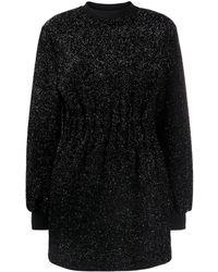 MSGM Lurex Mini-jurk - Zwart