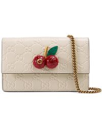 Gucci Signature Mini Bag With Cherries Lyst