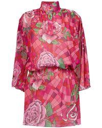 Amir Slama - Funel Neck Floral Dress - Lyst