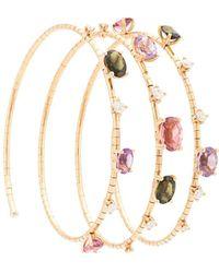 Mattia Cielo Браслет-бэнгл Rugiada Из Розового Золота С Камнями - Многоцветный