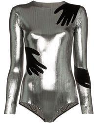 Alexia Hentsch X Browns Hands Applique Metallic Bodysuit