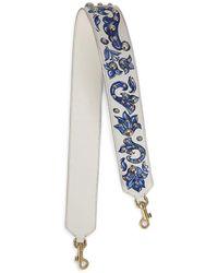 Dolce & Gabbana フローラル バッグストラップ - ホワイト