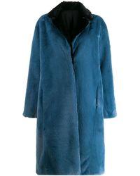 Heron Preston Concealed Front Coat - Blue
