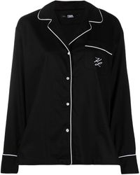 Karl Lagerfeld ロゴ パジャマ - ブラック