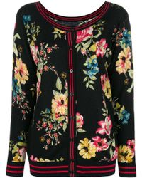 Twin Set - Floral Knitted Cardigan - Lyst
