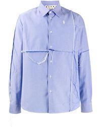 Marni Рубашка С Прорезями - Синий