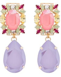 Anton Heunis Pear Drop Crystal Earrings - Multicolor