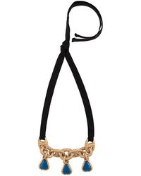 Marni - Cable Chain And Ribbon Necklace - Lyst