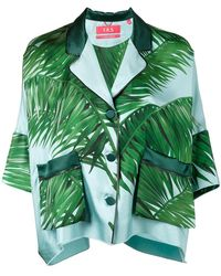 F.R.S For Restless Sleepers - Palm Leaf Print Pyjama Top - Lyst