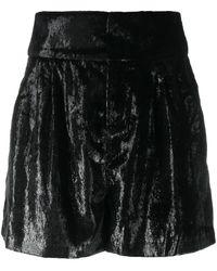 Ba&sh ハイウエスト ショートパンツ - ブラック