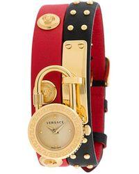 Versace Наручные Часы Icon С Декором Medusa - Черный