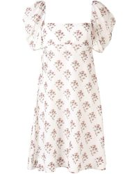 Brock Collection Riva フローラル ドレス - ホワイト