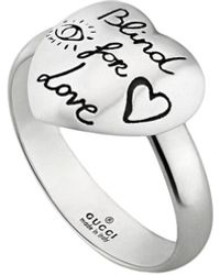 Gucci Blind For Love Ring - Metallic