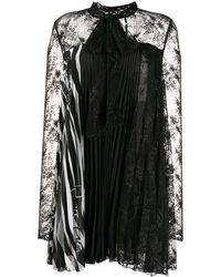 Philipp Plein プリーツ レースドレス - ブラック