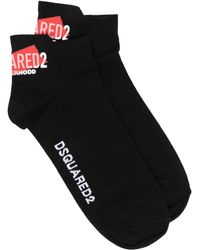 DSquared² ロゴ アンクル靴下 - ブラック