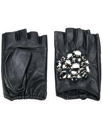 Karl Lagerfeld - Geo Stone Gloves - Lyst