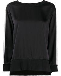 Twin Set Vネック スウェットシャツ - ブラック
