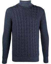 Altea - Cable-knit Roll Neck Jumper - Lyst