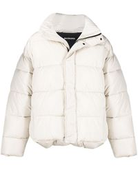 Balenciaga Bb Oversized-fit Puffer Jacket - Natural