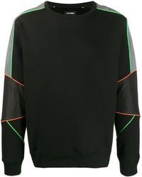 Les Hommes パネル スウェットシャツ - ブラック