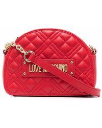 Love Moschino - キルティング ロゴ ショルダーバッグ - Lyst