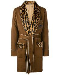 Dolce & Gabbana Пальто С Леопардовыми Вставками - Многоцветный