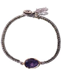 Brooke Gregson 14kt Rose Gold Orbit Bracelet - Purple