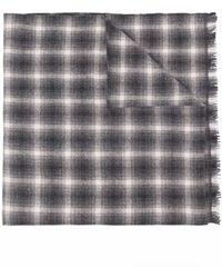 Isabel Marant チェック スカーフ - グレー