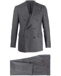 Tagliatore Anzug mit Nadelstreifen - Grau