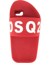 DSquared² Slipper Iphone 6/7 Plus Hoesje - Rood