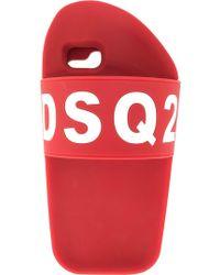 DSquared² Coque Slipper pour iPone 6/7 Plus - Rouge