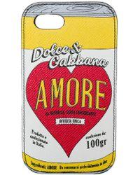 Dolce & Gabbana 'Amore' iPhone 7/8-Hülle - Schwarz