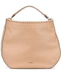DKNY Braided-detail Hobo Tote Bag - Natural