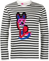 Maison Kitsuné - Fox Breton Stripe Sweatshirt - Lyst