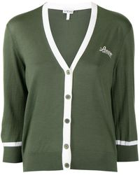 Loewe Кардиган С Вышитым Логотипом - Зеленый