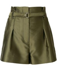3.1 Phillip Lim Satin Origami Shorts - グリーン