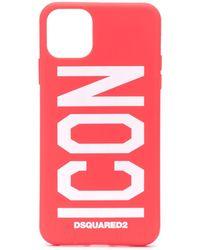 DSquared² Чехол Для Iphone 11 Pro Max С Принтом Icon - Красный