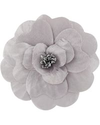 Philosophy Di Lorenzo Serafini Flower Motif Brooch - Grey