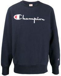 Champion ロゴ プルオーバー - ブルー