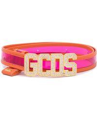 Gcds ロゴ カラーブロック ベルト - オレンジ