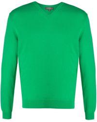 N.Peal Cashmere Джемпер The Burlington 1ply С V-образным Вырезом - Зеленый