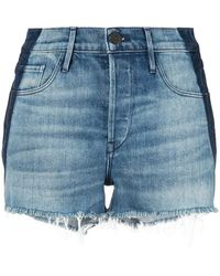 3x1 - Frayed Mid Rise Shorts - Lyst
