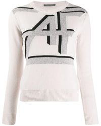 Alberta Ferretti インターシャ セーター - ホワイト