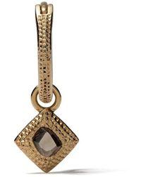 De Beers 18kt Yellow Gold Talisman Rough Diamond Earring - Metallic