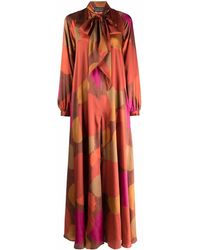Gianluca Capannolo Marisa Abstract-print Jumpsuit - Pink