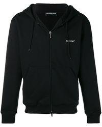 Balenciaga Zip-up Hoodie - Black